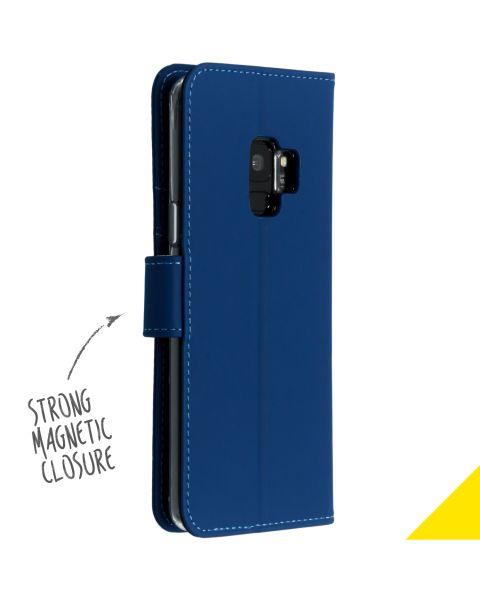 Wallet Softcase Booktype Samsung Galaxy S9 - Blauw / Blue
