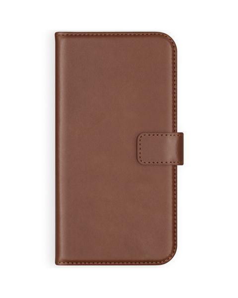 Echt Lederen Booktype Samsung Galaxy S21 - Lichtbruin - Lichtbruin / Light Brown