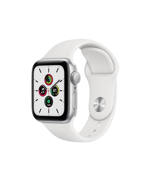 Refurbished Apple Watch Series SE 40mm   Aluminium Case Zilver   wit sportbandje