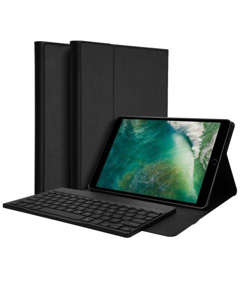 AZERTY Bluetooth Keyboard Bookcase iPad (2018/2017) /Air (2) - Zwart / Black