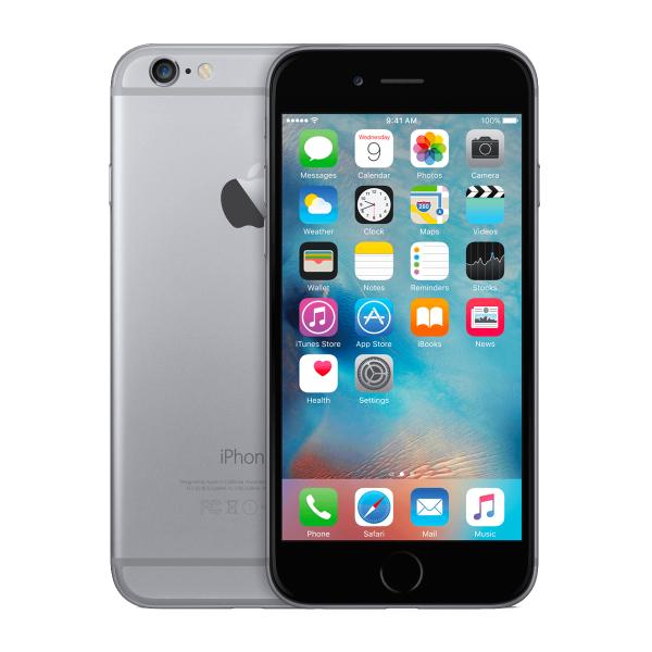 iPhone 6 64GB noir/gris espace reconditionné