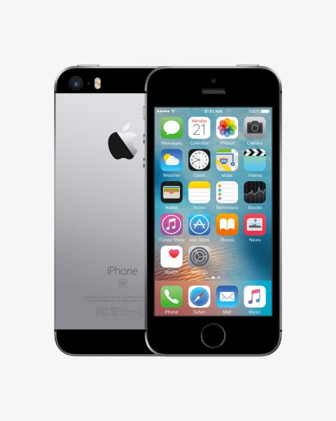 iPhone SE 128GB noir/gris espace reconditionné