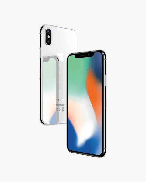 Refurbished iPhone X 256GB argent